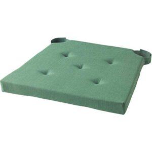 ЮСТИНА Подушка на стул зеленый 35/42x40x4.0 см - Артикул: 403.557.44