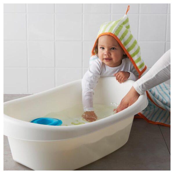 ЛЭТСАМ Ванночка детская, белый/зеленый [803.661.80]