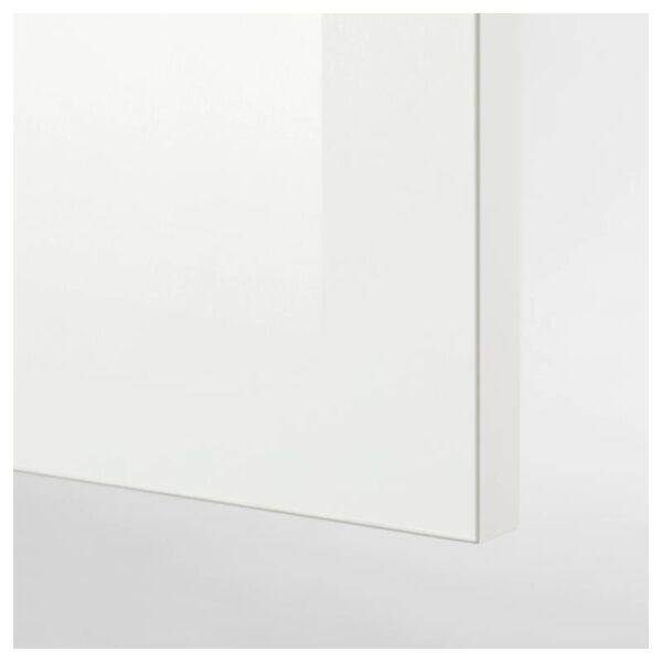КНОКСХУЛЬТ Кухня, глянцевый/белый 220x61x220 см [593.053.58]