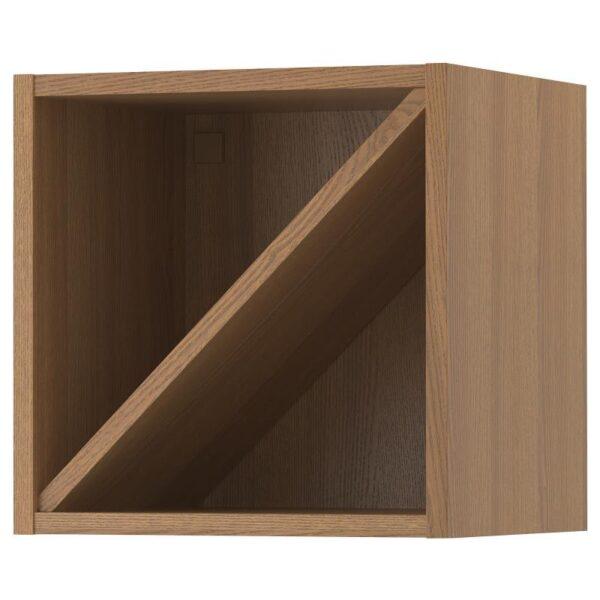 ВАДХОЛЬМА Шкаф для вина, коричневый/мореный ясень 40x37x40 см [703.743.31]