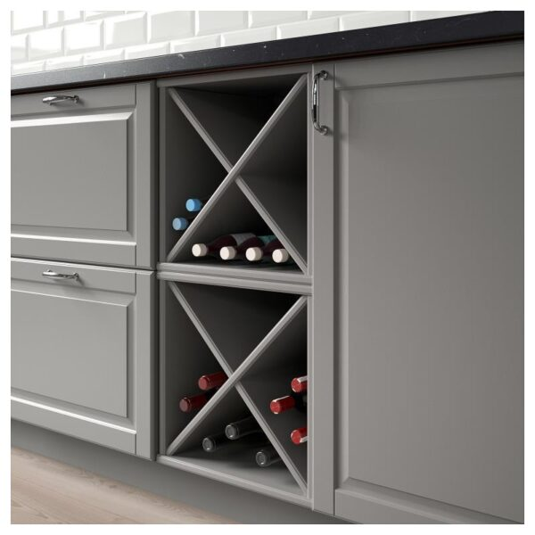 ТОРНВИКЕН Шкаф для вина, серый 40x37x40 см [503.590.15]