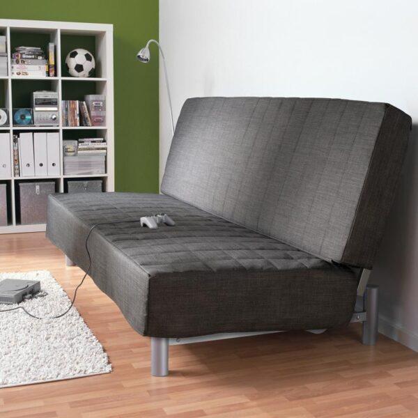 БЕДИНГЕ 3-местный диван-кровать, Шифтебу темно-серый [393.091.16]