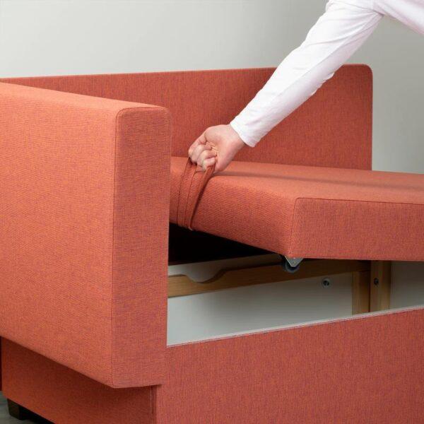 ГРЭЛЛЬСТА 2-местный диван-кровать, Сандсбру оранжевый [404.484.42]