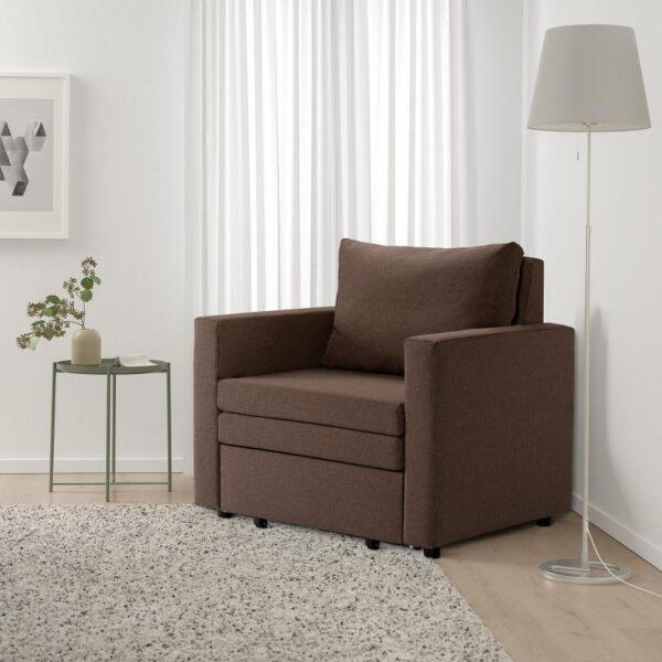 ВАТТВИКЕН Кресло-кровать, лерхага коричневый [604.507.97]