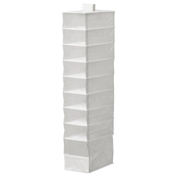 СКУББ Модуль для хранения с 9 отдл, белый 22x34x120 см - 104.530.05