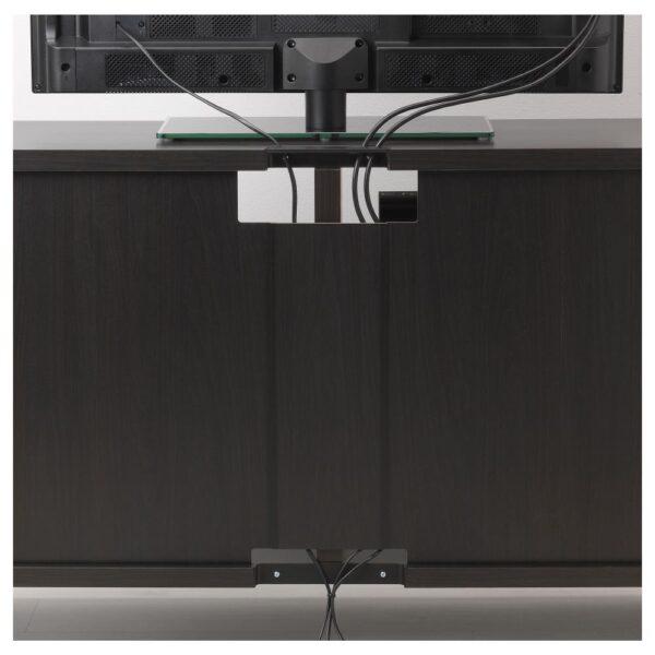 БЕСТО Тумба под ТВ, с дверцами и ящиками, черно-коричневый/ХАНВИКЕН/СТУББАРП черно-коричневый 240x42x74 см - 392.975.28