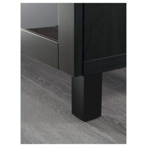 БЕСТО Комбинация для хранения с ящиками, черно-коричневый Лаппвикен/синдвик/стуббарп черно-коричневый прозрачное стекло 180x42x74 см - 393.026.76