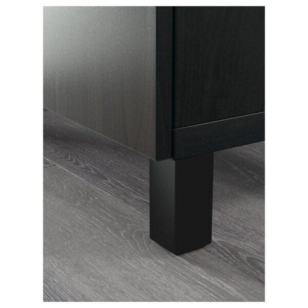 БЕСТО Комб для хран с дверц/ящ, черно-коричневый/Лаппвик/стуббарп черно-коричневый прозрачное стекло 120x42x240 см - 793.018.87