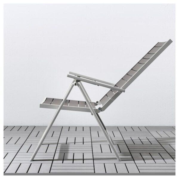 ШЭЛЛАНД Стол+4 кресла, д/сада, темно-серый/Куддарна бежевый 156x90 см - 992.917.74
