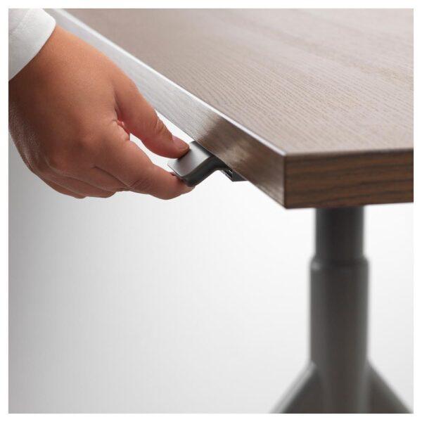 ИДОСЕН Стол/трансф, коричневый/темно-серый 160x80 см - 692.810.12