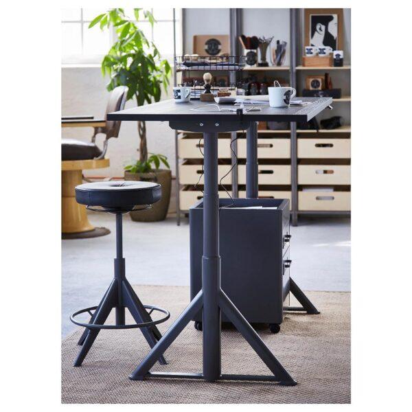 ИДОСЕН Стол/трансф, черный/темно-серый 120x70 см - 292.809.48