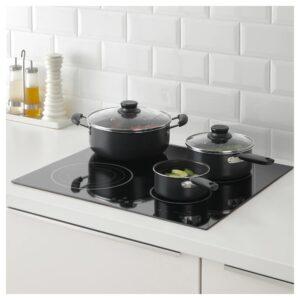 КВЭЛЛЬСВАРД Набор кухонной посуды, 3 предметa, серый - 404.279.96
