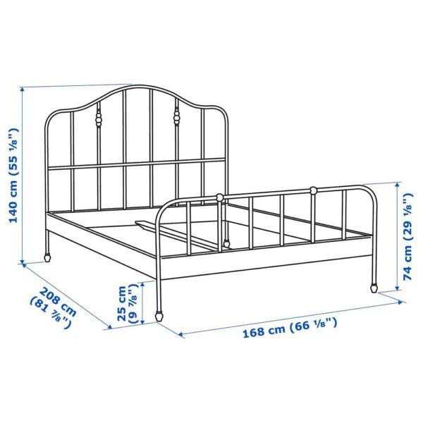 САГСТУА Каркас кровати, черный/Лурой 160x200 см - 592.688.36