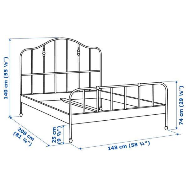 САГСТУА Каркас кровати, черный/Лурой 140x200 см - 292.689.08