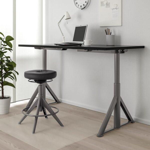 ИДОСЕН Стол/трансф, черный/темно-серый 160x80 см - 592.809.99