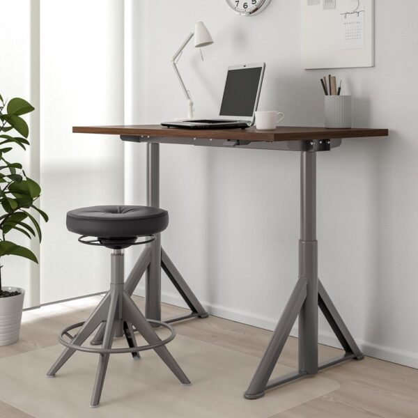ИДОСЕН Стол/трансф, коричневый/темно-серый 120x70 см - 992.809.64
