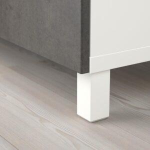 БЕСТО Комбинация для хранения с дверцами, белый/Кэлльв/Стуббарп под бетон 120x42x202 см - 693.050.70
