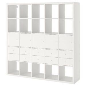 КАЛЛАКС Стеллаж с 10 вставками, белый 182x182 см - 692.783.40
