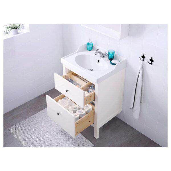 ХЕМНЭС / РЭТТВИКЕН Шкаф для раковины с 2 ящ, белый/РУНШЕР смеситель 62x49x89 см | 692.936.61