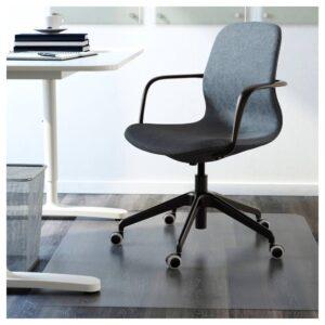 ЛОНГФЬЕЛЛЬ Рабочий стул с подлокотниками, Гуннаред синий/черный | 092.100.27