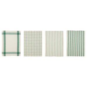 ЭЛЛИ Полотенце кухонное, белый/зеленый 50x65 см   104.490.42
