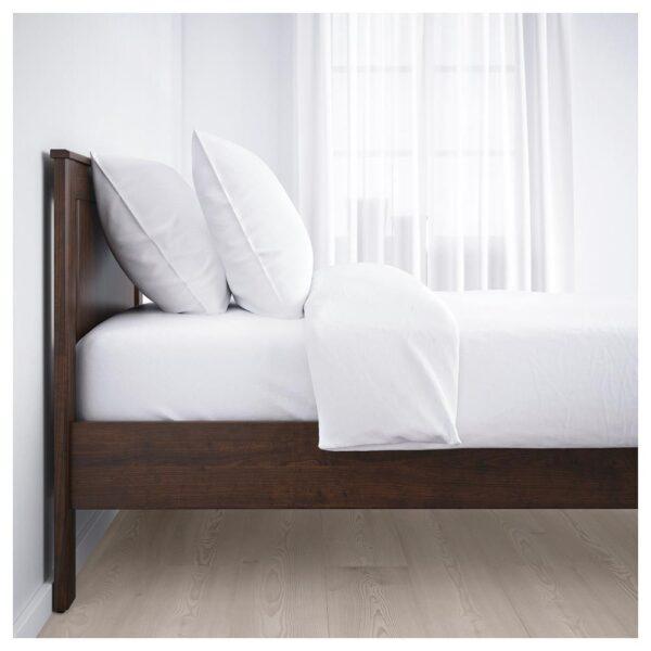 СОНГЕСАНД Каркас кровати, коричневый/Леирсунд 90x200 см   492.409.56