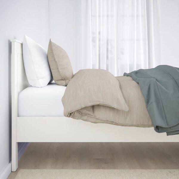 СОНГЕСАНД Каркас кровати, белый/Лонсет 90x200 см | 992.410.34