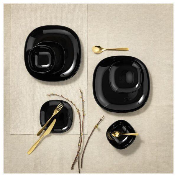 БАККИГ Тарелка десертная, черный 18x18 см | 504.390.84