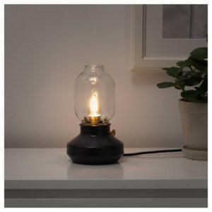 РОЛЛЬСБУ Светодиод E14 140 лм, регулируемая яркость/свечеобразный коричневый, прозрачное стекло | 404.115.56