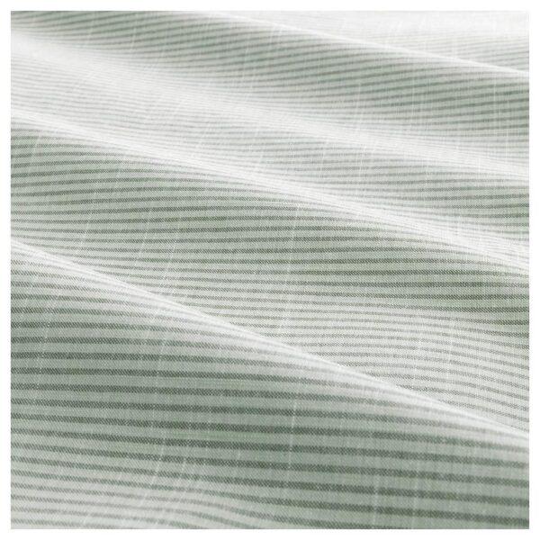 БЕРГПАЛМ Пододеяльник и 1 наволочка, зеленый/полоска 150x200/50x70 см | 004.232.07
