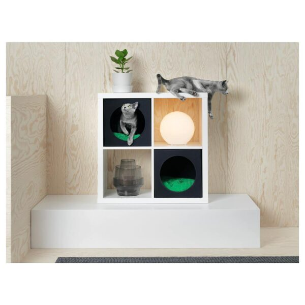 ЛУРВИГ Домик для кошки, черный 33x38x33 см | 404.429.54