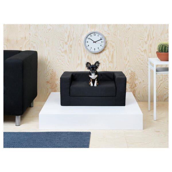 ЛУРВИГ Место для собаки/кошки, черный 68x70 см | 904.429.56
