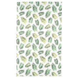 РУНДАРЕ Скатерть, зеленый/лист 145x240 см | 504.457.30