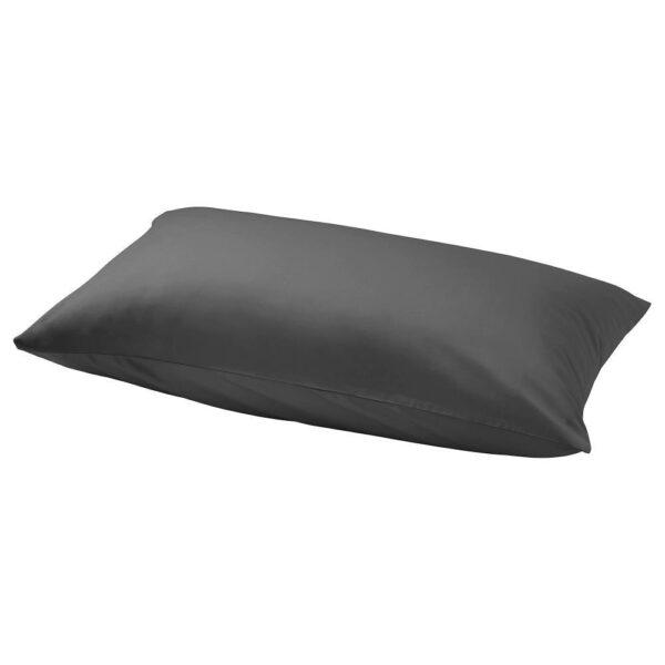 НАТТЭСМИН Наволочка, темно-серый 50x70 см | 804.427.06