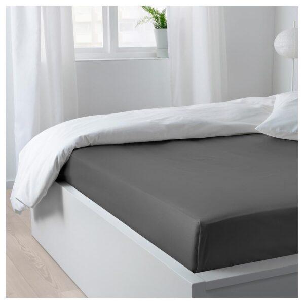 НАТТЭСМИН Простыня, темно-серый 240x260 см | 504.427.22