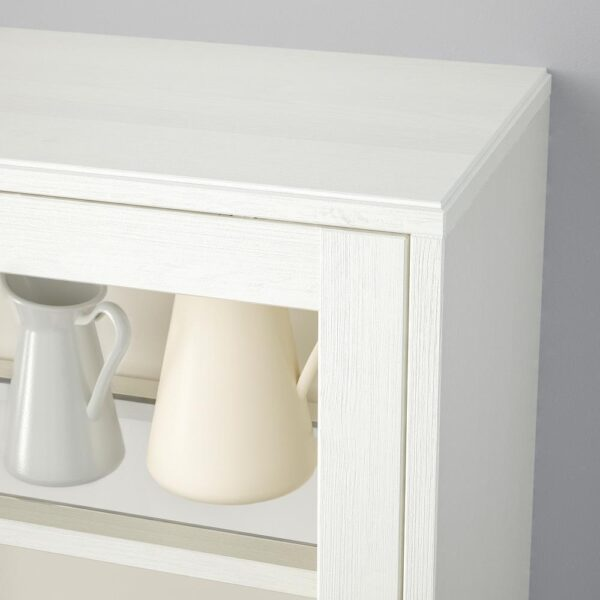 ХАВСТА Шкаф-витрина с цоколем, белый прозрачное стекло 121x37x134 см   392.751.21