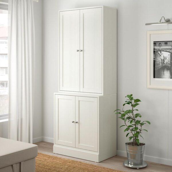 ХАВСТА Комбинация для хранения с дверцами, белый 81x47x212 см | 992.659.92
