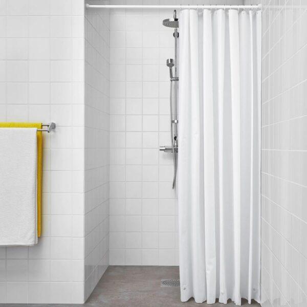 БЬЕРСЕН Штора для ванной, белый 180x200 см   204.437.04
