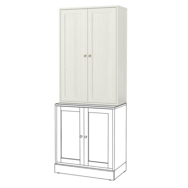 ХАВСТА Шкаф, белый 81x123x35 см | 203.891.94