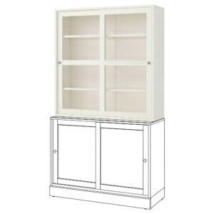 ХАВСТА Шкаф-витрина, белый 121x123x35 см | 903.886.19
