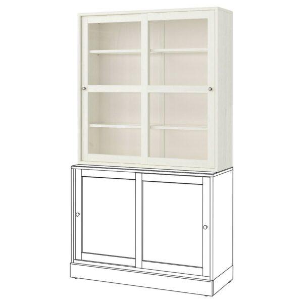 ХАВСТА Шкаф-витрина, белый 121x123x35 см   903.886.19