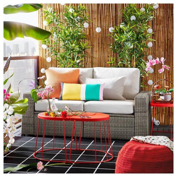 СОЛЛЕРОН 2-местный модульный диван, садовый, темно-серый/ФРЁСЁН/ДУВХОЛЬМЕН бежевый 161x82x88 см   992.877.48