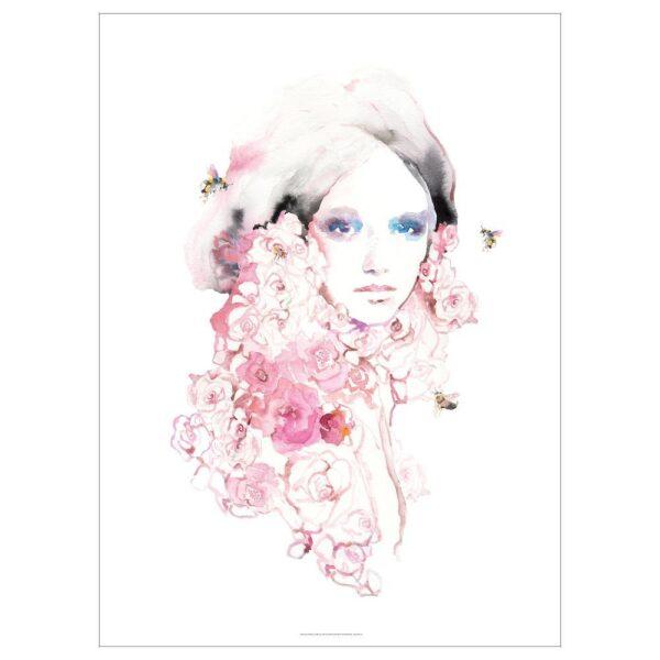 ПЬЕТТЕРИД Картина, Девушка в цвету 70x100 см | 504.482.10
