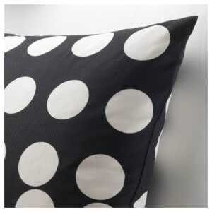 КЛАРАСТИНА Чехол на подушку, черный/белый 50x50 см   504.438.30