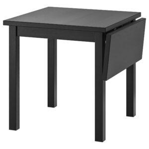 НОРДВИКЕН Стол с откидной полой, черный 74/104x74 см | 103.696.05