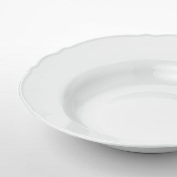 УППЛАГА Тарелка глубокая, белый 26 см | 104.247.20