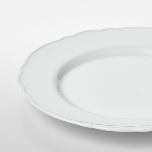 УППЛАГА Тарелка десертная, белый 22 см | 204.247.05