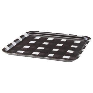 УРЛАДДА Поднос, черный/белый 33x33 см | 404.322.00