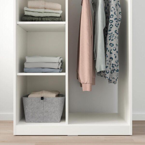 СЮВДЕ Открытый гардероб, белый 80x123 см | 904.395.72