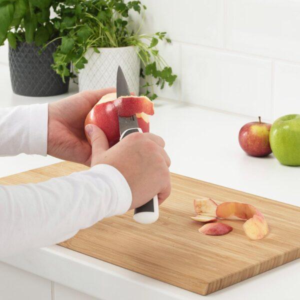 ЭНДЛИГ Набор ножей,3 штуки, светло-серый/белый   604.400.39